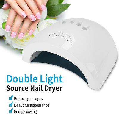 Pro Nail Polish Dryer Lamp 48W LED UV Gel Acrylic Curing Light Manicure Tool SG