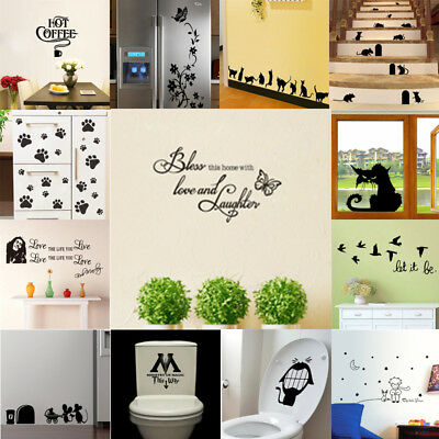 Kitchen Wall Sticker Kids Bedroom Vinyl Wall Decal Room Removable Nursery Decor
