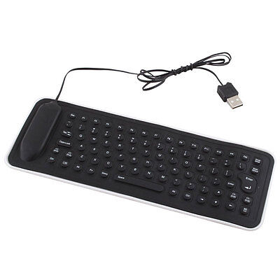 Vouge 2.0 USB Mini Flexible Silicone Foldable PC Keyboard for Laptop Notebook LS