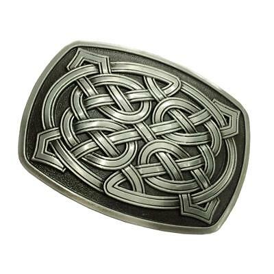 Rectangle Alloy Celtic Pattern Belt Buckle Classic Novelty Western Rodeo