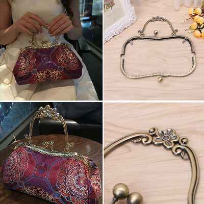 Metal Frame Kiss Clasp Lock Arch For Sewing Handbag Coin Bag Purse 20.5 x 17cm