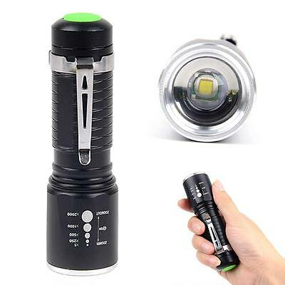 Zoomable crée XML T6 Lampe Torche 10000 Lumens 5 modes 18650 AAA Tactique pied