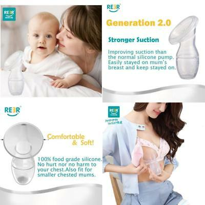 Silicone Breastfeeding Manual Breast Pump Milk Saver with Lid 2.0 Strong Suction