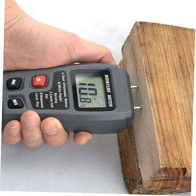 LCD 0-99.9% 2Pins Wood Industry Digital Moisture Meter Humidity Tester Timber YN
