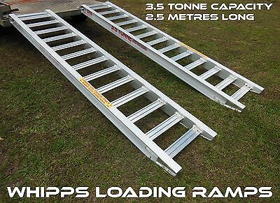 3.5 Tonne Capacity Trailer Machinery Ramps 2.5 metres long x 450mm track width