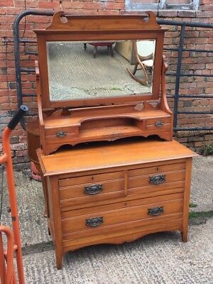 Victorian Walnut Dressing Table / Dressing Chest