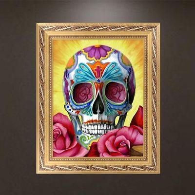 DIY 5D Diamond Embroidery Painting Skull Cross Stitch Craft Home Wall Decor