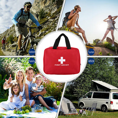 Portable Sports Camping Home Medical Emergency Survival First Aid Kit Bag MH