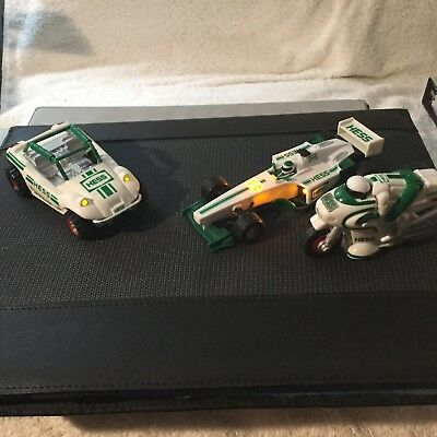 Hess Dune Buggy , Motorcycle and Indy Style Race Car White And Green