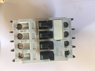Siemens 3TH30-22E Contactor 110V Coil - Used