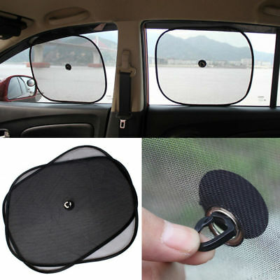 2Pc Universal Black Sun Shade Shield Visor Protection Car Side Rear Front Window