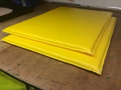 Two Safety-landing Garden Crash Mats yellow &  Free P&p 5ftX3ft 2' Thick