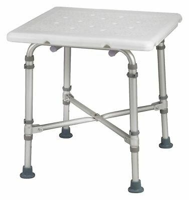 """Healthsmart 21"""" Smooth Aluminum, Plastic Tub and Shower Seat, White"""