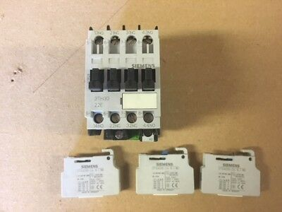 Siemens 3TH30-22E Contactor 110V Coil & 3 no. 3TX4010-2A Auxiliary switch block