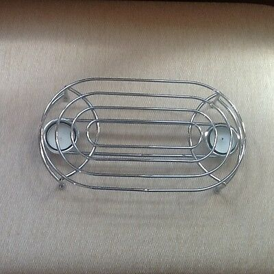 Chrome Plate Oval Table Top Tealight Food Warmer with Candles