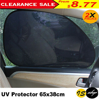 Pair Front Windshield Car Window Foldable Sun Shade Shield Cover Visor UV Block