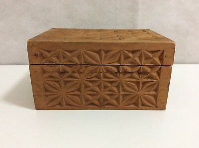 Carved Wooden Hinged Box