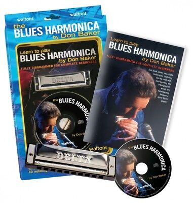 Harmonica Pack 10 Hole Key C Pack Waltons Book Blues Fun Beginners Mouth Organ