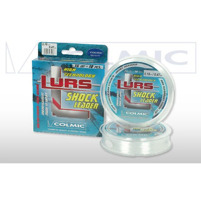 1. Colmic Lurs Tapered Shock Leader Clear 15mt 10pcs