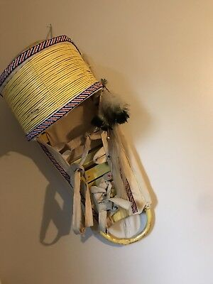 GENUINE Full Sized Hand Made Western APACHE CRADLE BOARD CRADLEBOARD