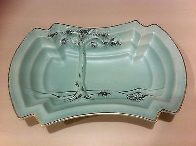 "Vintage 1950s? Crown Ducal A.G.R Art Deco style Dish.Exc cond.#18 ""Tree of Life"""
