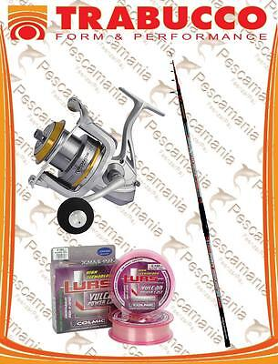 Set surf casting Trabucco fishing rod 4,20 + reel + nylon Colmic combo -20%