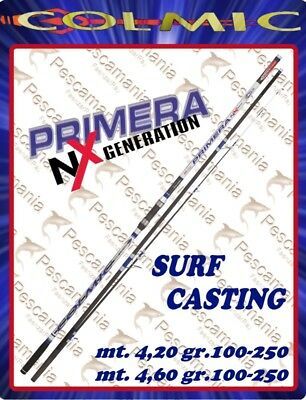 Fishing rod Colmic Primera NX-JAN surf casting 100-250gr. 4,20-4,60mt ground
