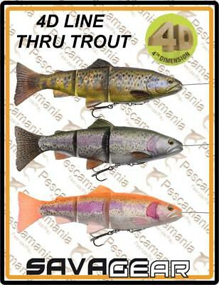 "Savage Gear ""4D TROUT LINE THRU SWIM BAIT"" 20cm 93gr spinning lure pike"