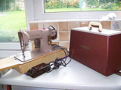 Singer 185K Semi Industrial Sewing Machine,case/key,expertly Serviced & Tested