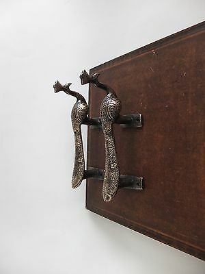 Vintage Antique Style Bird Solid Brass Pair Of Door Handles Pulls