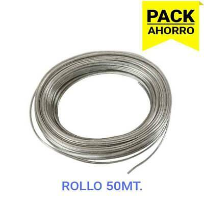 Rollo de Cable Eléctrico Transparente (50mt)