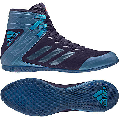 Adidas Speedex 16.1 Boxing Boots Mens Blue Sports Shoes Trainers