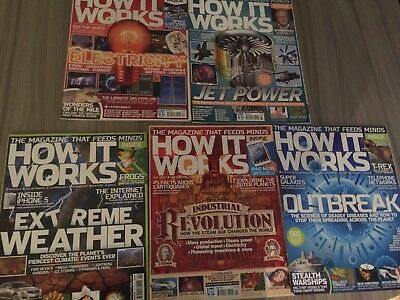 HOW IT WORKS magazine Issues 40,41,42,42,44 Perfect Condition