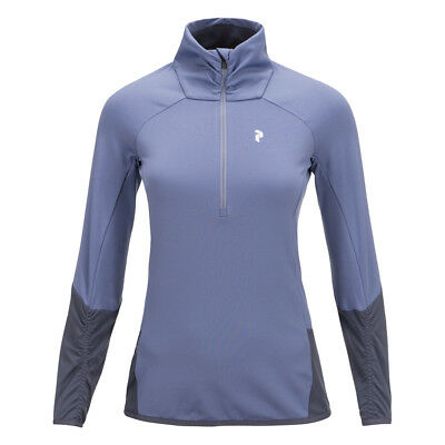 Peak Performance Women's Fleece-Lined Mid-Layer with Ruching in Soft Purple