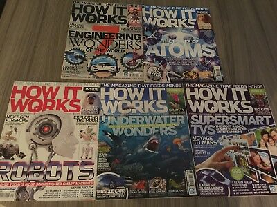 HOW IT WORKS magazine Issues 34,35,36,38,39 Perfect Condition