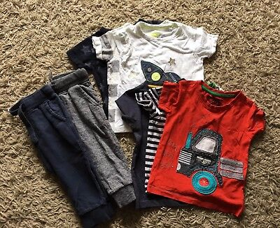 Boys Next casual bundle Size 12-18 Months. T-shirts and joggers.