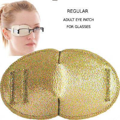 Glasses Patch GOLDEN, Soft and Washable for Right or Left Eye