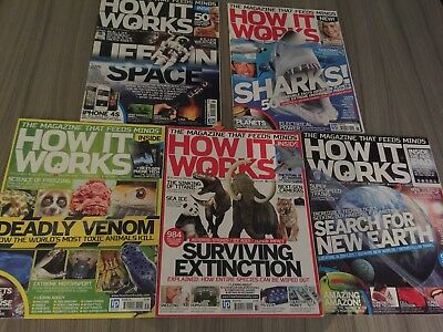 HOW IT WORKS MAGAZINES issues 26,27,31,32,33 Perfect Condition