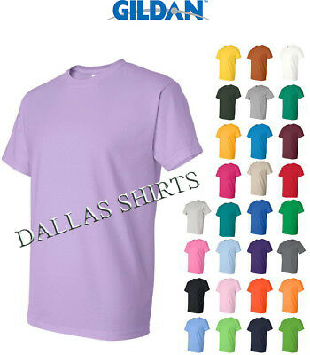 Gildan Dry Blend T-Shirt Blank Solid Mens Short Sleeve 50/50 Wicking