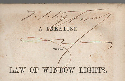 A Treatise On The Law Of Window Lights - First Edition 1867 !