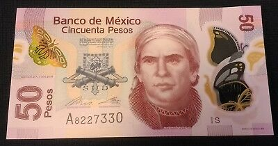 Mexico, 50 Pesos, 2015 (2016), POLYMER, New, New Sign. UNC Series S