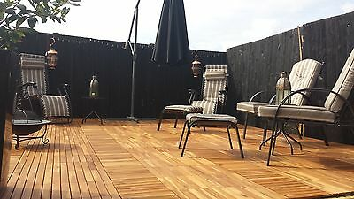 SUPERB  HARDWOOD Interlocking Deck Tiles Patio Decking TilesWooden Balcony Tiles