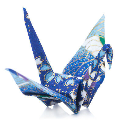 Pack 10 Blue Japanese Origami Crane Birds