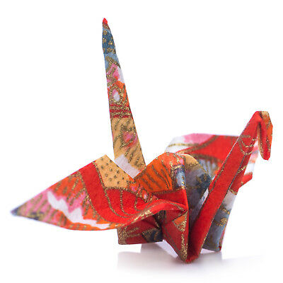 Pack 10 Red Japanese Origami Crane Birds