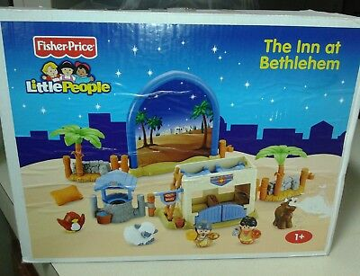 Fisher Price Little People Christmas Nativity Inn at Bethlehem Complete Box NEW