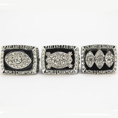 1976,1980,1983 Oakland Raiders Super Bowl Championship Ring Set
