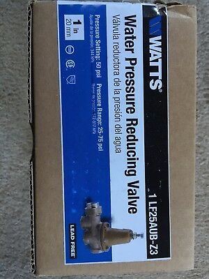 "Brand New WATTS LF 25AUB Z3 1"" Pressure Reducing Valve Regulator"