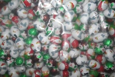 20 - 300 x CHRISTMAS CHOCOLATE FESTIVE OVAL BALLS - STOCKING PARTY FOIL - XMAS