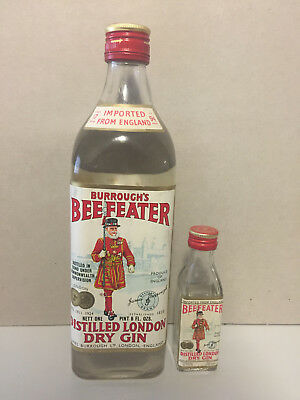 Beefeater Dry Gin 1 @ 1 Pint (700ml) & 1 @ 50ml Extremely Rare