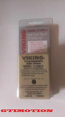 NEW VIKING K-1900-5, Hot-Line Programmable Touch Tone Dialer
